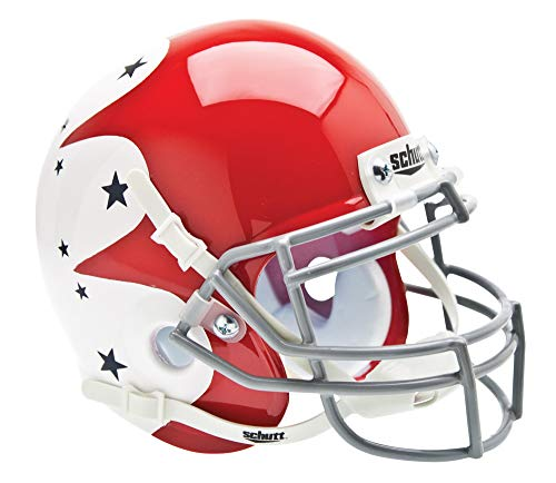 Schutt NCAA Mini Helm Air Force Falcons, Red and White w/Blue Stars Alt. 1