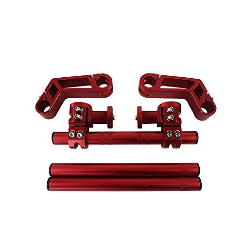 """Für 125ccm Pit Bike Dirt Bike Motocross Roller CNC Motorrad Lenker 7/8""""Einstellbare Lenkung Abnehmbarer Lenker System Von Hetai (Farbe : Rot)"""