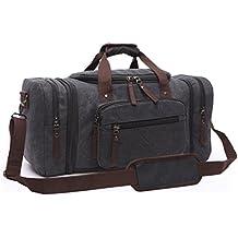 76c1d1bb0acf5 Aidonger Unisex Canvas Groß Reisetasche Großräumige Handtasche Sporttasche  Schultertasche Handgepäck für Damen ...