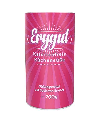 Erygut Puder 700g | Kalorienfreier Puderzuckerersatz aus Erythrit | Süßungsmittel zum Süßen von Speisen und Getränken, Kochen und Backen | Foodtastic Erythritol Light