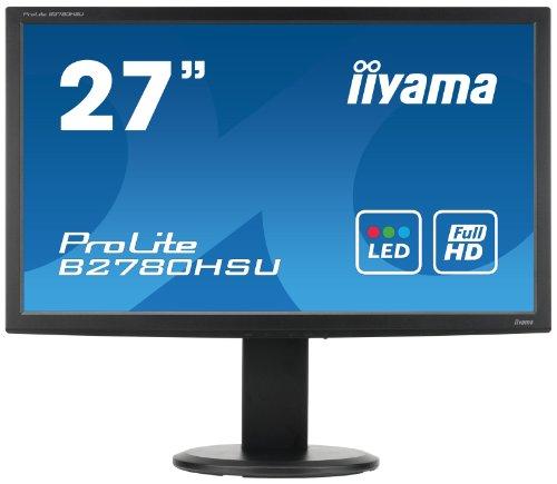 IIYAMA B2780HSU-B1 27 inch Widescreen WLED Monitor (4ms, VGA/DVI/HDMI/HAS/USB)