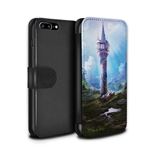 Officiel Elena Dudina Coque/Etui/Housse Cuir PU Case/Cover pour Apple iPhone 8 Plus / La Magie Tour Design / Fantaisie Paysage Collection La Magie Tour