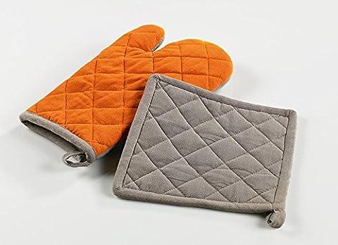 Le Jardin des Cigales Gant + Manique Polyester Orange 20 x 10 x 20 cm