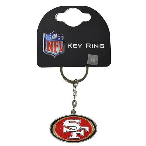 San Francisco 49ers American Football NFL Keyring Keychain Metal Logo Official