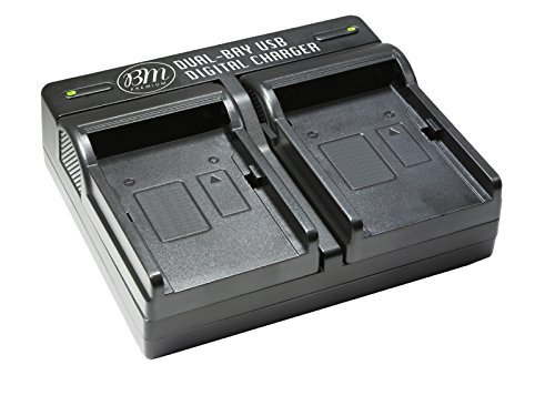 BM Premium of NP-FW50 2-Pack Batteries and Dual-Battery Charger for Sony Digital Cameras