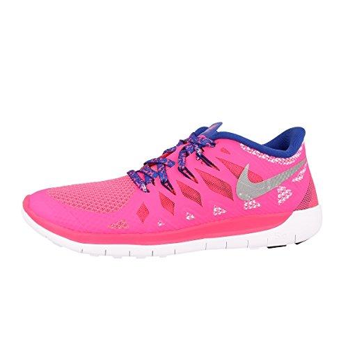 Nike 644446-401, Mädchen Unisex-Kinder Laufschuhe, Rosa/Silber/Blau (Hyper Pink/Metallic Silver/Royal Blue) - Größe: 36 EU