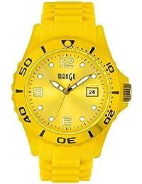 Mango A68333Y17KV - Reloj para mujeres, correa de goma color amarillo