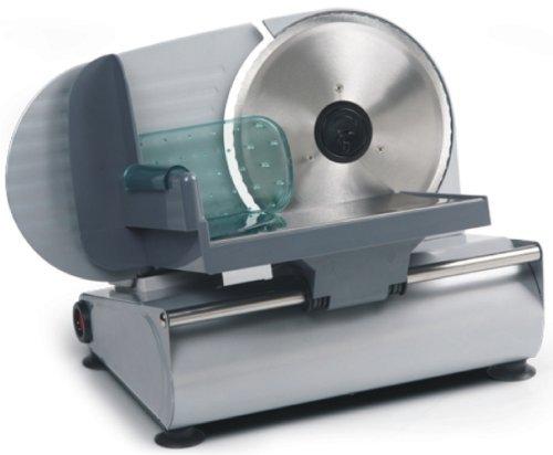 Allesschneider (Schneidemaschine für Brot, Wurst, Käse, gezahntes Edelstahlmesser, starke 150W)