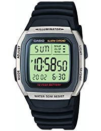 Casio Collection – Herren-Armbanduhr mit Digital-Display und Resin-Armband – W-96H-1AVES