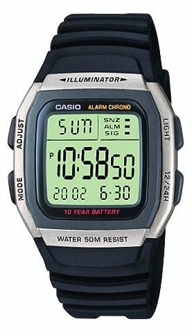 Casio Collection – Herren-Armbanduhr mit Digital-Display und Resin-Armband – W-96H-1AVES