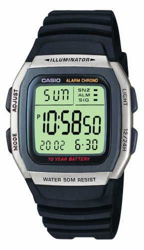 Casio Herren Armbanduhr Collection Digital Quarz Schwarz Resin W-96H-1Aves