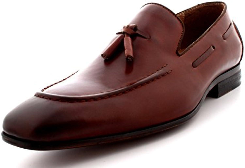 Queensbury Taylor Herren Bummler Mokassin Echte Vollleder Quaste Fahren Schuhe