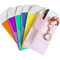 Uteruik - 6 Paquetes de Protectores de Bolsillo para Camisas, para bolígrafo, Escuela, Hospital, Oficina, para Fugas de bolígrafo