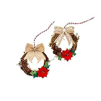 Aokbean-Packung-mit-12-Weihnachts-Bgen-Sackleinen-Bgen-fr-Weihnachts-Baum-TopperWeihnachtenHochzeits-Deko