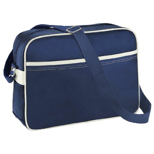 BagBase - Borsa a Tracolla (12 litri) Blu Navy/Bianco Naturale