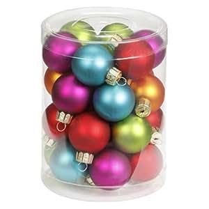 Inge-glas 1558D001 Palline per albero di Natale 30 mm, barattolo da 28 pezzi, colore: Mille fiori
