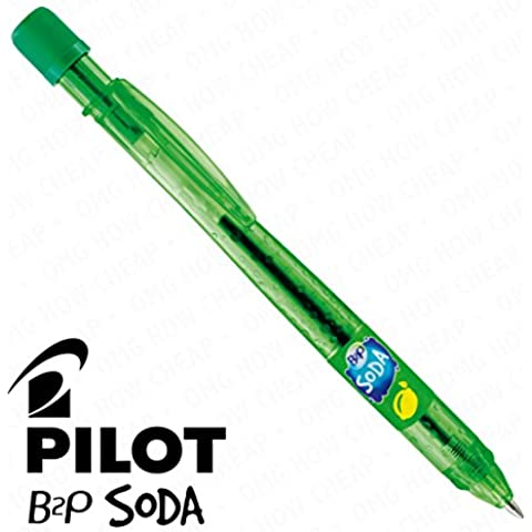Soda Pilot-Penna a sfera retrattile, singolo, colore: giallo limone e verde Lime [94] %plastica riciclata