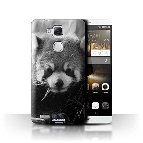 Stuff4® Hülle/Hülle für Huawei Ascend Mate7 / Waschbär Muster/Zoo-Tiere Kollektion