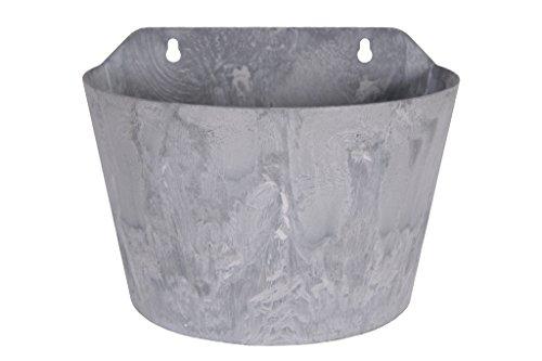 Ter Terracotta (Artstone Pflanzgefäß Wandtopf Claire, frostbeständig und leichtgewichtig, Grau, 24x16x18cm)