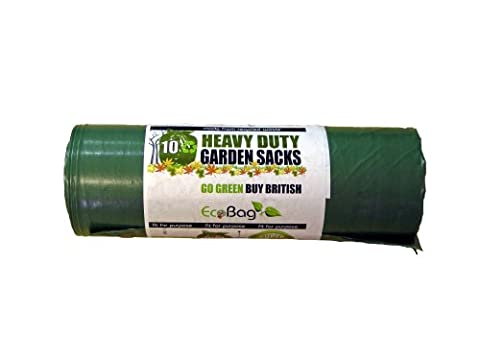 100Litre,10 Heavy Duty Garden Sacks Bags-Made from Recycled Waste -