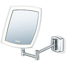 Beurer BS-89 - Espejo cosmético con luz, color plata