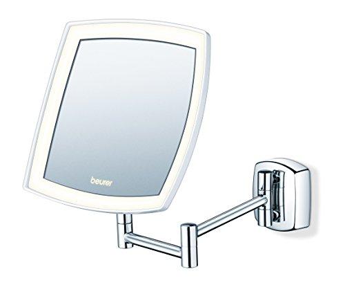 Beurer BS 89 LED Kosmetikspiegel, beleuchtet, zur Wandmontage, 5-fache - Wand Make-up-spiegel Beleuchtete