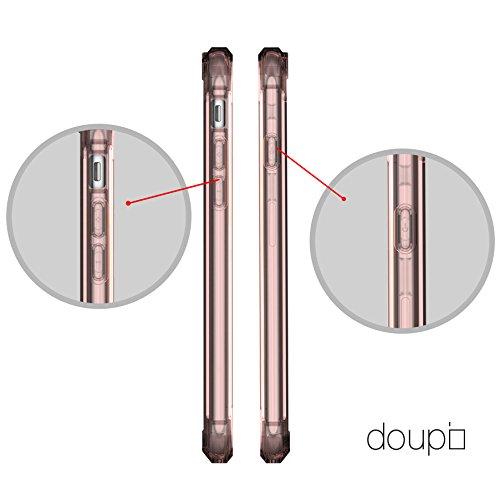 """doupi PerfectFit AirClear Case pour iPhone 6 6S ( 4,7"""" ) avec Crystal Clear coque arrière BackCase et Pare-chocs de protection cadre Cover, rose rose"""