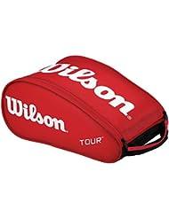 Wilson Tour III Bolsa para zapatos, Unisex adulto, Rojo (Red), Única