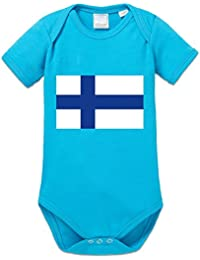 Finland Flag Baby Strampler by Shirtcity