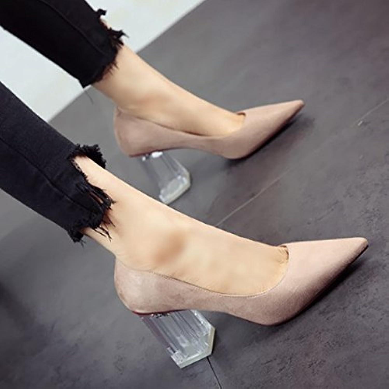FLYRCX Européen de printemps et d'été a fait personnalité sexy chaussure daim daim unique personnalité fait élégante et simple talon...B07BK1Y9BCParent 568160