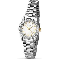 Sekonda Ladies' Crystal Set Two Colour Watch 2112