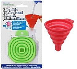 Collapsible Silicone Funnel Heat Resistant Helpful In Pouring Liquid With Precision