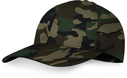 Storfisk fishing & more US Baseball Cap mit verstärktem Stirnbereich, größenverstellbar, Farbe :Woodland