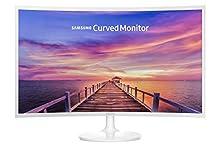 """Samsung Monitor PC C32F391 Curvo da 32"""" con Base Tonda, 1920 x 1080, Tempo di Risposta 4 (GTG), Rapporto d'Aspetto 16:9, 1 Porta HDMI, Pannello VA, Bianco"""