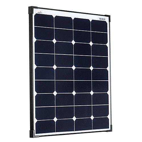 Offgridtec SPR-50 60W Hochleistungssolarmodul 12V mit extrem hohem Wirkungsgrad schwarz gerahmt 010505