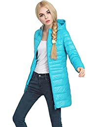 FEITONG Mujer Invierno Chaqueta Capa dama Ultra Ligero delgado Encapuchado Chaquetas de abrigo Abajo abrigo