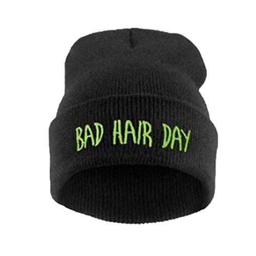 Modelli-Esplosione-Cap-Marea-Giorno-Capelli-Testa-Bad-Hip-Hop-Berretto-Di-lana-Manica-Freddo-Maglia-Cappello-Di-Moda-Per-Donna-Inverno-Vuoto-Capelli-Cappello-Accessori-Cerchietti-Verde-nero