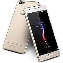 "Smartphones Libre Blackview A9 Pro 5.0 ""SIM-Libre teléfono móvil 4G Android 7.0 2GB RAM 16GB ROM Dubble 8MP + 0.3MP Cámara trasera SAMSUNG Teléfono barato Dual SIM Dual Standby 3000mAh Smartphone - Oro"