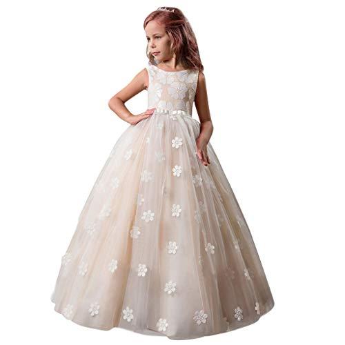 bobo4818 Kinder MäDchen Bowknot Prinzessin Formale Hochzeit Party äRmelloses Tutu-Kleid FüR 5-14 Jahre Jahr 12 Formale Kleider
