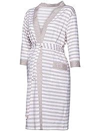 Happy Mama. Damen Umstandspyjama Stillfunktion. Stillschlafanzug 3/4-arm. 394p