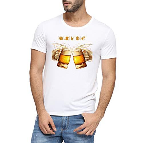 Herren 8D Bier Gedruckt Tees Hemd Beste Brüder Prost Hemden Tops Party Club Oberteile T Shirts Bayerischen Oktoberfest Karneval Festival Slim Fit Tank Top Oberteil Nachtclub Bar Shirt Streetwear