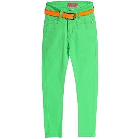 Mädchen Kinder Jeans Hose Röhre Straight Fit Stretch Bootcut mit