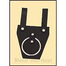 Soporte para cinturón para hacha–Hacha plana piel negra