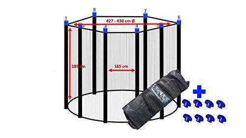 Trampolin Sicherheitsnetz 427 - 430 cm Ø für 8 Stangen Ersatznetz Fangnetz