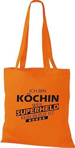 Tote Bag Shirtstown Sono Un Cuoco Perché Il Supereroe Di Nessuna Professione È Arancione