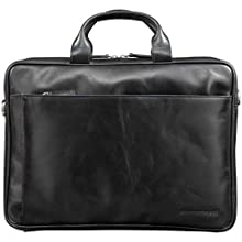 dbramante1928 Amalienborg Laptop Bag, Black | Handcrafted Full-Grain Leather, Fits up to 15 inch Laptops