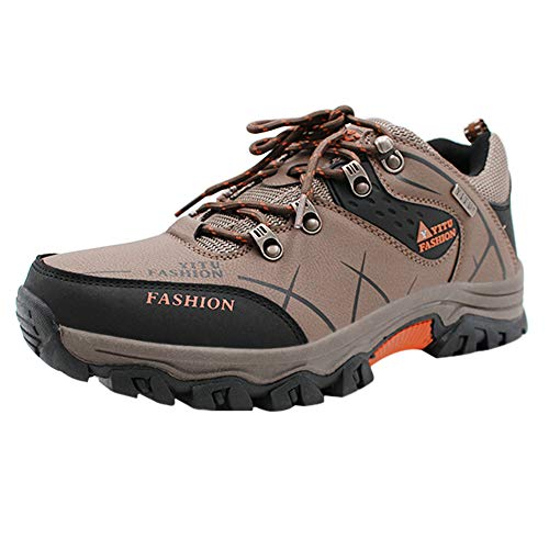 Yudesun Uomo Sport Outdoor Trekking Escursionismo Scarpe - Camminata Impermeabile Arrampicata Scarpe da Ginnastica Equitazione Resistente all Usura Tempo Libero Campeggio Calzature