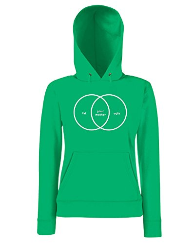 T-Shirtshock - Sweatshirt a capuche Femme FUN0158 06 22 2012 venn diagram your mother tt detail Vert