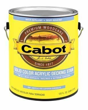 Cabot Oil Decking Stain Alkyd Satin Medium Base Solid 1