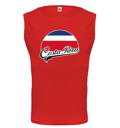 buXsbaum® Tank Top Costa Rica-Logo Red-z-direct